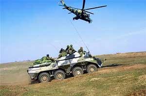 独联体边界-2005演习以吉尔吉斯骚乱为背景(图)