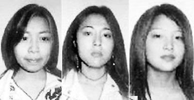 三名中国少女英国失踪图