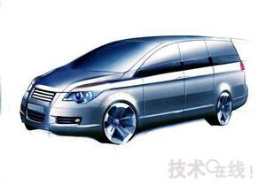 奇瑞汽车上海车展展出多功能商用车B13