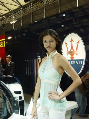 上海车展专访超级名模Rosemary(组图)