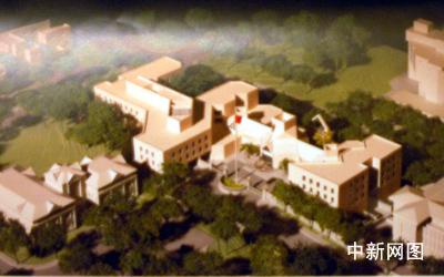 中国驻美大使馆新馆开工 预计08年投入使用(图)
