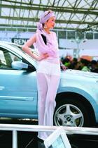 上海车展:粉酷之车模 车香尚需美女映