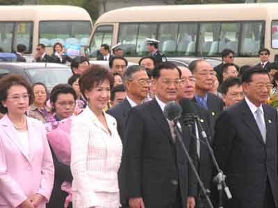 连战:国民党愿重视当前开创未来促进两岸双赢