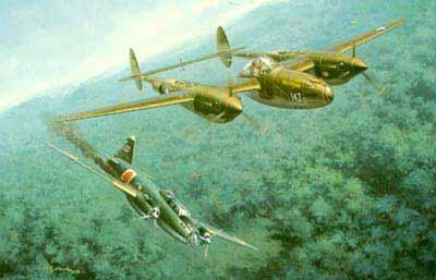 """美国陆航战斗机洛克希德 P38""""闪电"""""""