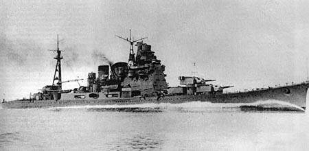 日军高雄级重型巡洋舰(图)