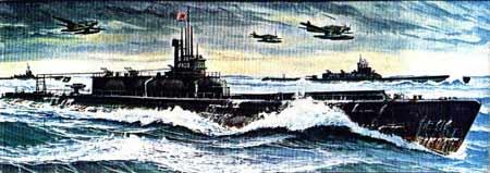 二战日本帝国海军潜水航空母舰伊400(图)