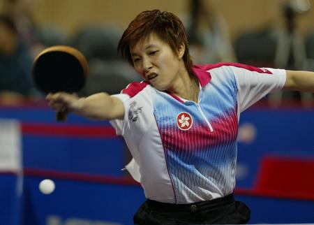 世乒赛女单第三轮 林菱胜谭文玲晋级