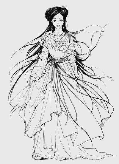 手绘古代服饰仙