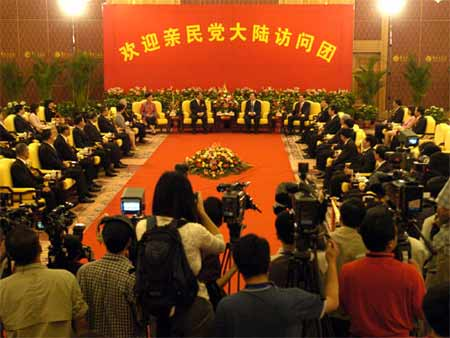 图文:湖南省委书记会见宋楚瑜(2)