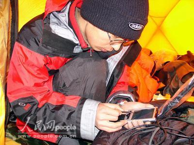 组图:珠峰复测测量篇――在藏北展开测量