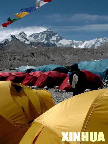 组图:珠峰大本营掠影