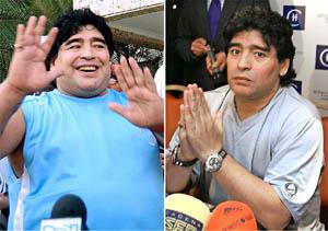 减肥见效老马西班牙访友 为家人要减到75KG(图)