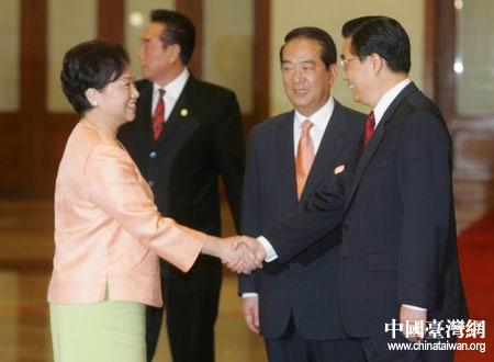 胡锦涛会见亲民党主席宋楚瑜夫人(图)