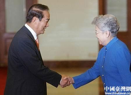 图文:吴仪会见亲民党主席宋楚瑜