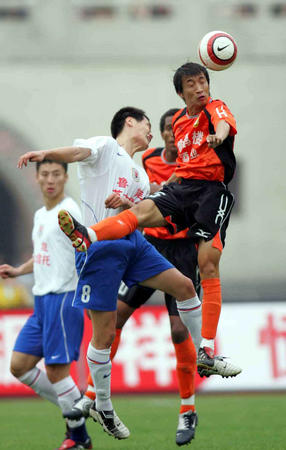 图文:武汉3-2战胜山东