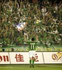 图文:中超-现代3-1中邦 耶利奇奔跑庆祝