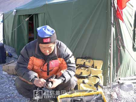珠峰下12点GPS测量站