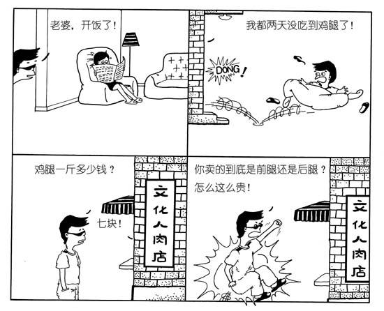 [搞笑]经典夫妻四格漫画
