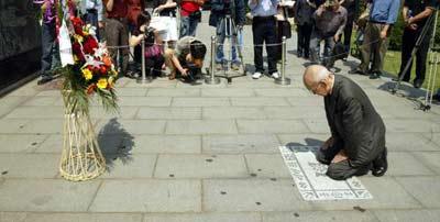 2005年5月20日,日军侵华老兵,91岁的本多立太郎来到上海谢罪.