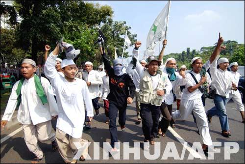 印尼爆发反美游行
