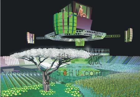 郭富城个唱玩绿野舞林 紧身透视秀身形(图)