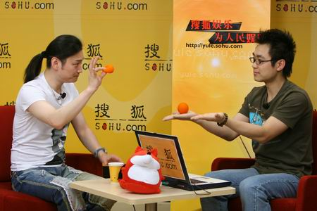 魔术师李宁做客搜狐 现场表演精彩魔术(视频)