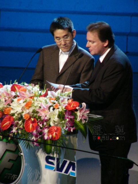 图:第11届上海电视节颁奖礼-丹尼尔和海岩