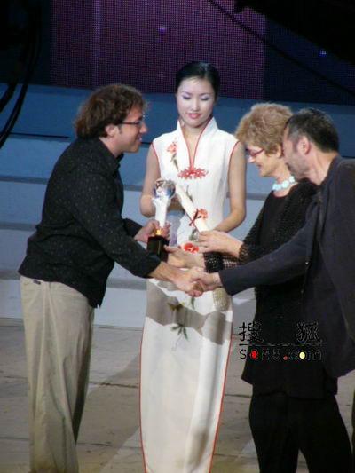 组图:第11届上海电视节-田壮壮和佩里查德曼