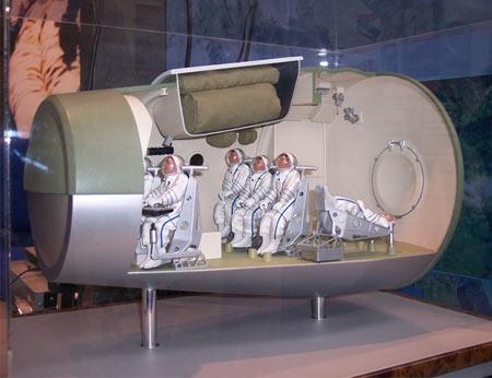 新闻频道 军事新闻 外军新闻            宇宙飞船内部座舱结构   在