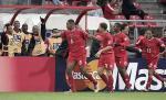 图文:世青赛中国4-1巴拿马 对方球员庆祝扳平
