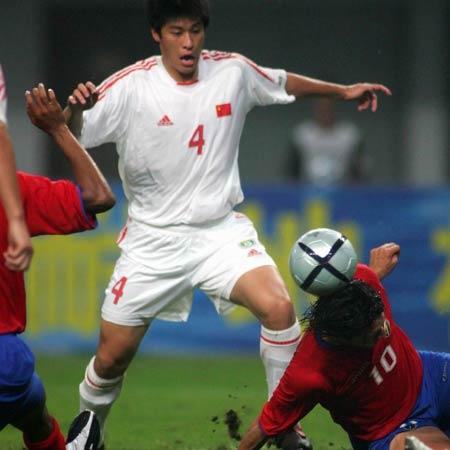 图文:中国2-2哥斯达黎加队 张耀坤率先破门