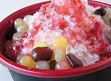 美食:炎热夏天爽口刨冰透心儿凉