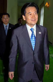North Korea's leader Kim meets S.Korean minister