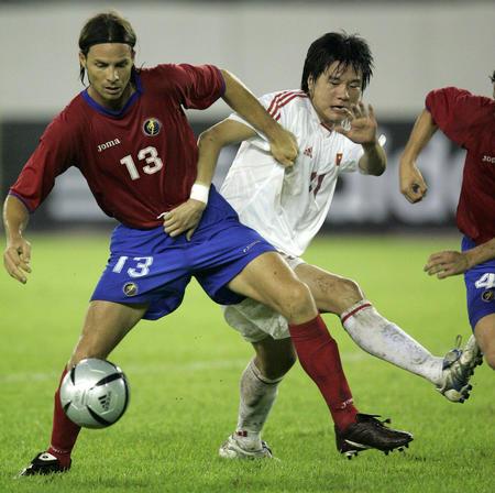 图文:中国2-0哥斯达黎加