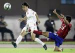 图文:中国2-0哥斯达黎加 王亮下底传中