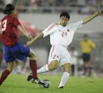 图文:中国2-0哥斯达黎加 张烁起脚射门