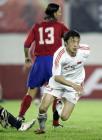 图文:中国2-0哥斯达黎加 谢晖进球后奔跑