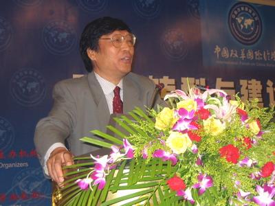 图:国家发改委宏观经济研究院常修泽教授 摄影/李淑琴