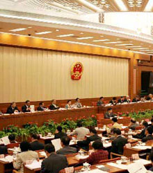 快讯:全国人大常委会开始审议2004年审计报告