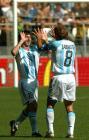 图文:世青半决赛阿根廷胜巴西 梅西庆祝进球