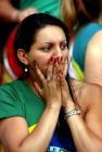 图文:世青半决赛阿根廷胜巴西 巴西球迷神伤