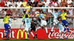 图文:世青半决赛阿根廷胜巴西 禁区内争顶
