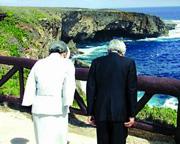 Japan's emperor mourns WWII dead