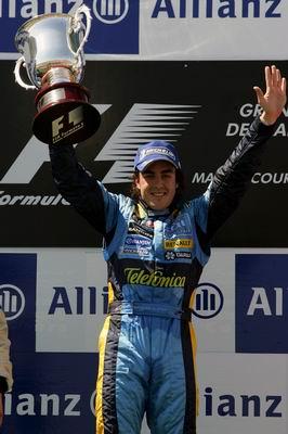 阿隆索法国夺冠雷克南亚军 舒马赫第3登上领奖台