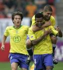 图文:世青赛巴西VS摩洛哥 艾德卡洛斯庆祝进球