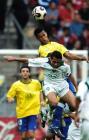 图文:巴西队获得第三名 球员争顶