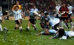 图文:阿根廷胜尼日利亚 阿根廷队庆祝胜利