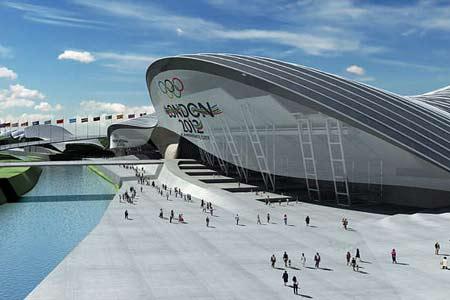 图文:伦敦将举办2012奥运 水上运动场馆外景