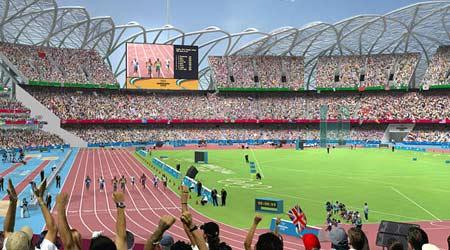 图文:伦敦将举办2012奥运 运动馆内景一角