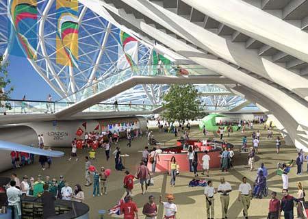 图文:伦敦将举办2012奥运 体育馆内景